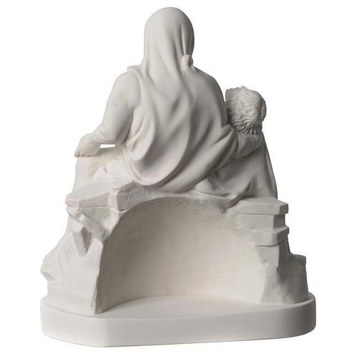 Statua Pietà di Michelangelo marmo sintetico bianco 25 cm 5