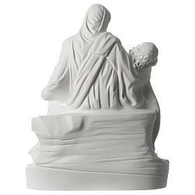 Statua Pietà di Michelangelo marmo sintetico bianco 40 cm s5