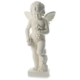 Angel throwing flowers in synthetic marble 75 cm s1