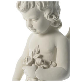 Angel throwing flowers in synthetic marble 75 cm s2