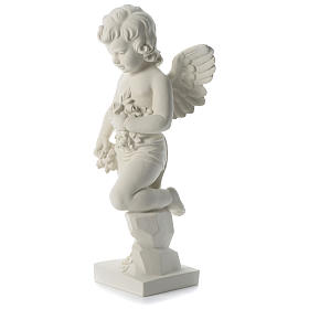 Angel throwing flowers in synthetic marble 75 cm s3
