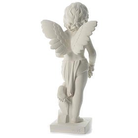Angel throwing flowers in synthetic marble 75 cm s5