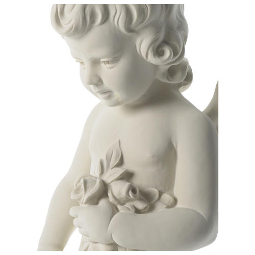 Angel throwing flowers in synthetic marble 75 cm 2