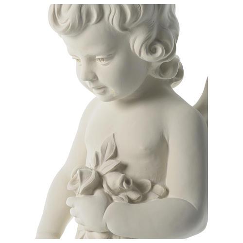 Angioletto gettafiori marmo sintetico 75 cm 2