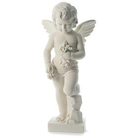 Imagens em Pó de Mármore de Carrara: Imagem anjo lançando flores mármore sintético 75 cm