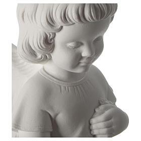 Gettafiori angioletto polvere di marmo 48 cm s2