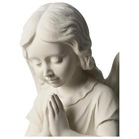 Angel in white Carrara marble 34 cm left s2