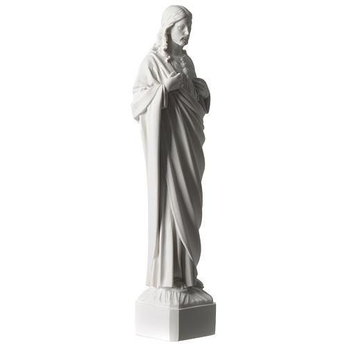 Sagrado Corazón de Jesús 45 cm polvo de mármol blanco 4
