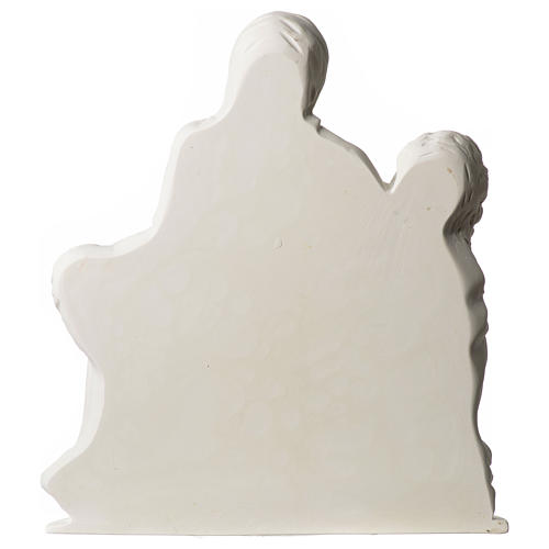 Pieta of Michelangelo plate in white synthetic marble 42 cm 4