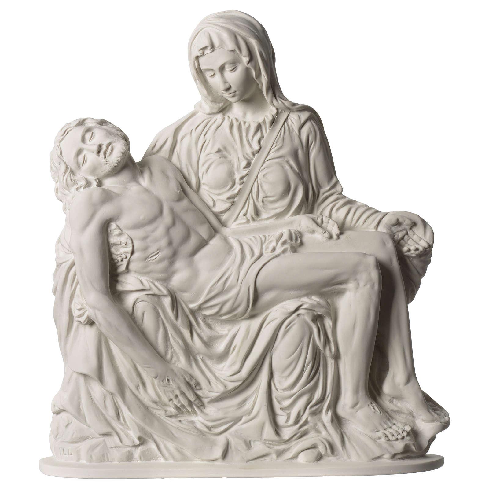Pietà di Michelangelo targa marmo sintetico bianco 42 cm 4