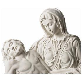 Pietà di Michelangelo targa marmo sintetico bianco 42 cm s2