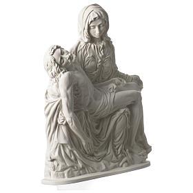 Pietà di Michelangelo targa marmo sintetico bianco 42 cm s3