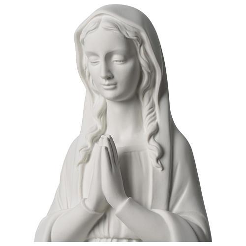 Virgen María Rezando Imagen Polvo de Mármol 80 cm 2