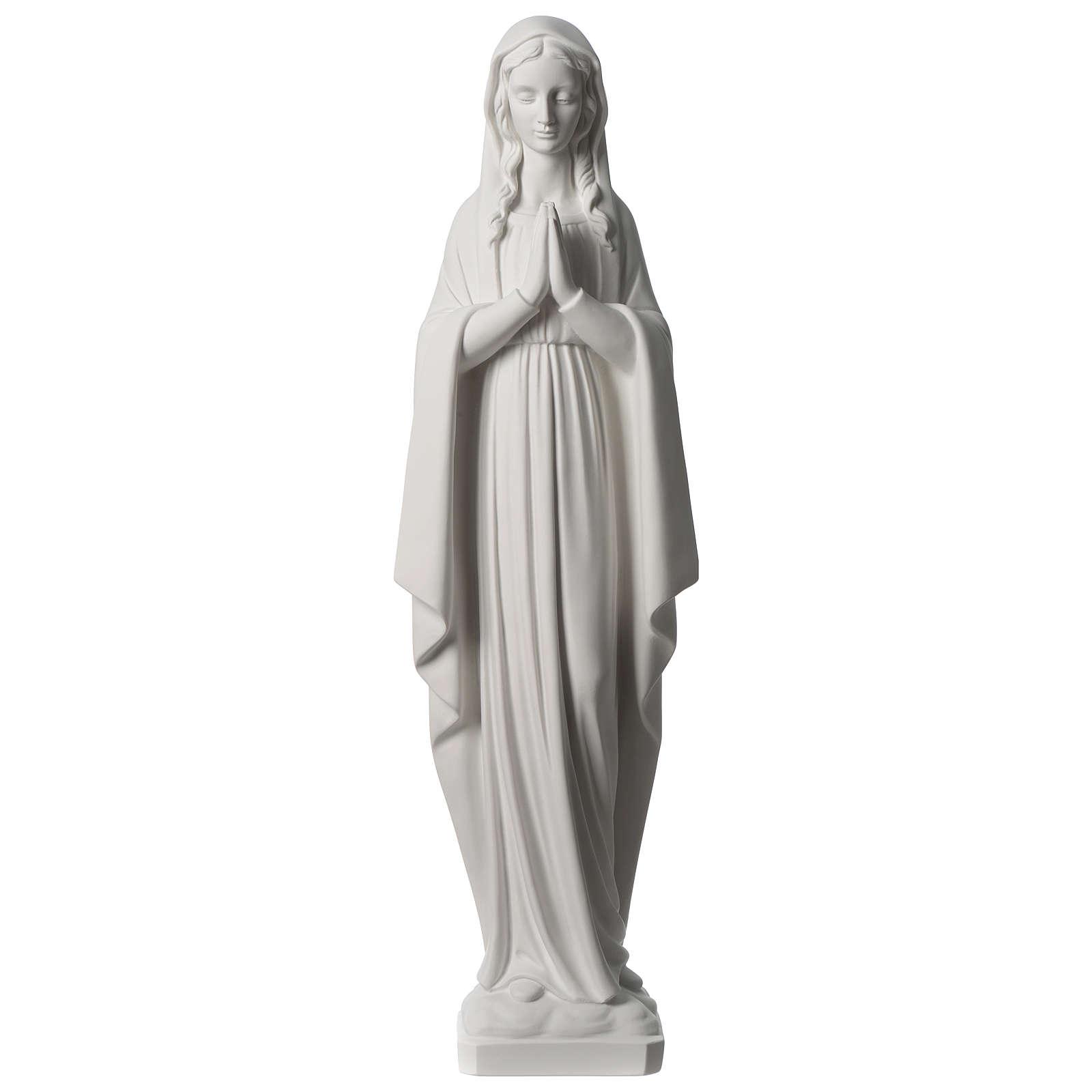 Vierge en prière marbre synthétique 80 cm 4