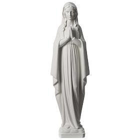 Vierge en prière marbre synthétique 80 cm s1