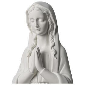 Vierge en prière marbre synthétique 80 cm s2