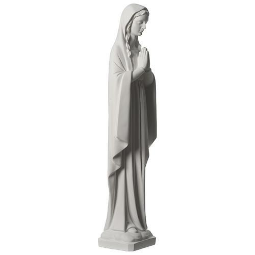 Madonna in preghiera marmo sintetico 80 cm 4