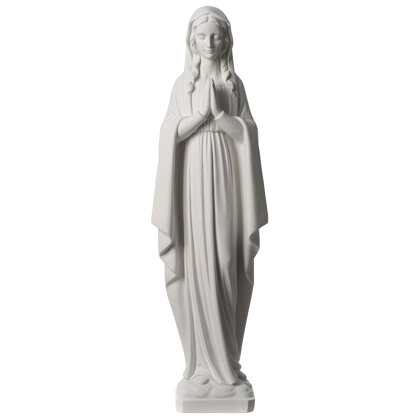 31 inc Our Lady praying composite marble statue 4