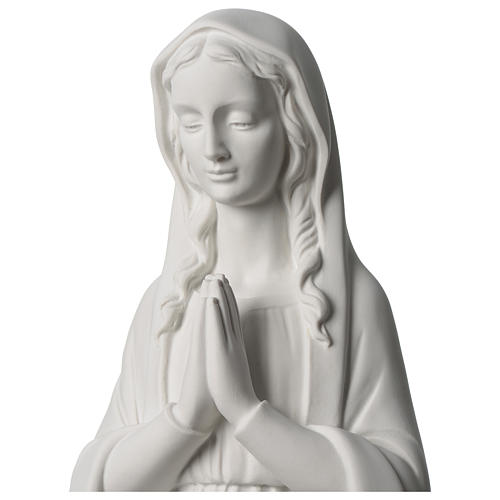 31 inc Our Lady praying composite marble statue 2