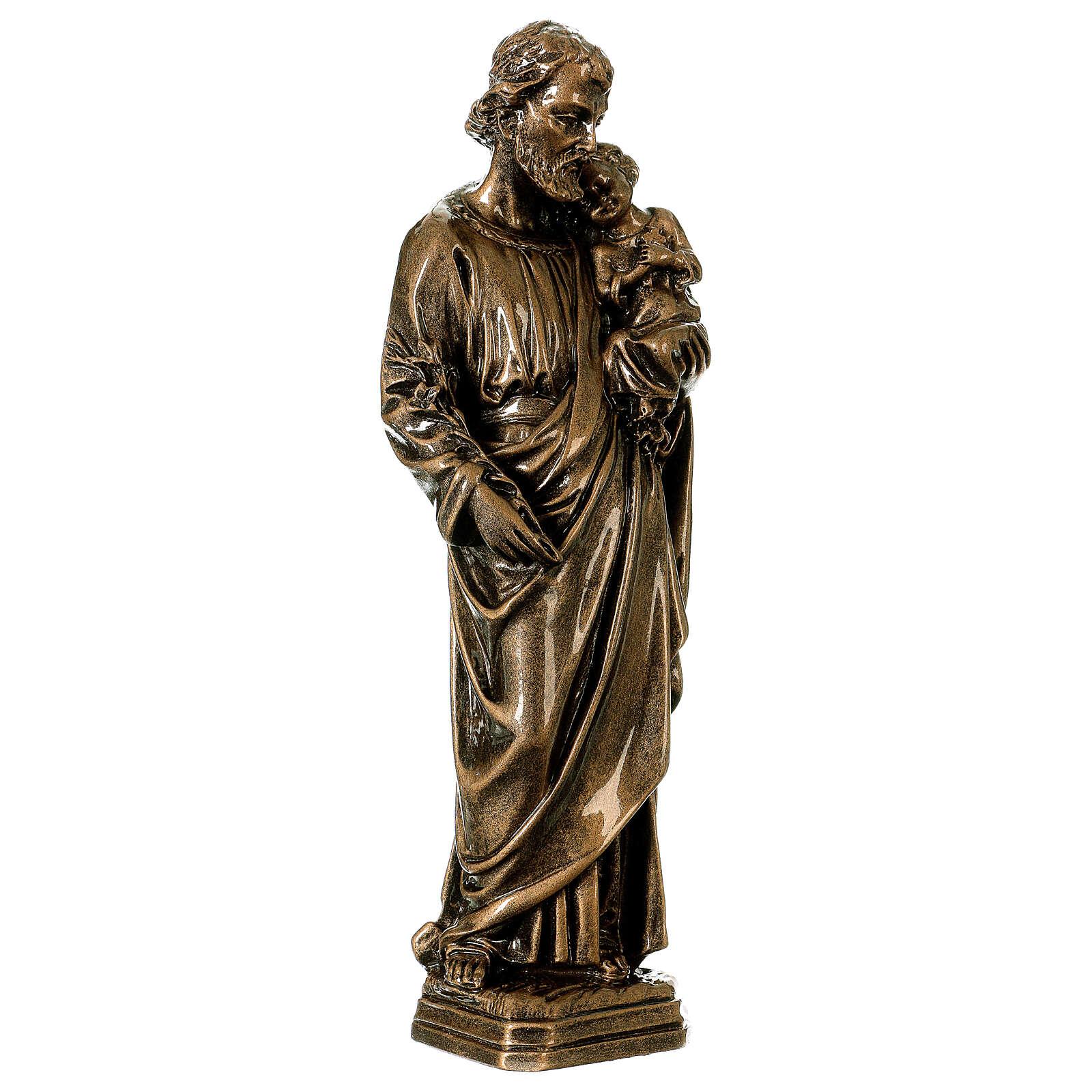 Josef mit Kind 30cm Marmorpulver Bronze Finish AUSSENGEBRAUCH 4
