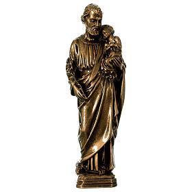 Josef mit Kind 30cm Marmorpulver Bronze Finish AUSSENGEBRAUCH s1