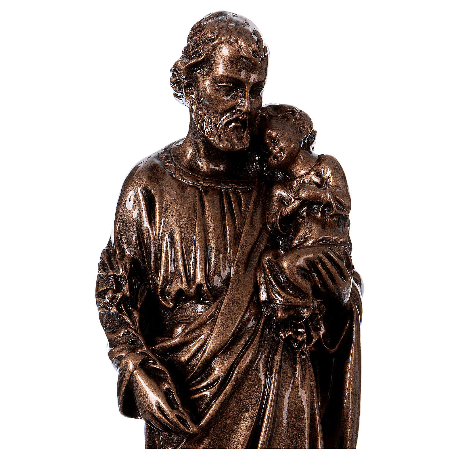 Saint Joseph 30 cm in bronzed marble, outdoor use 4