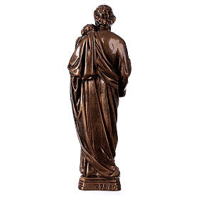 Saint Joseph 30 cm in bronzed marble, outdoor use s5