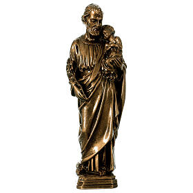 Saint Joseph 30 cm in bronzed marble, outdoor use s1