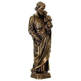 Saint Joseph 30 cm in bronzed marble, outdoor use s3