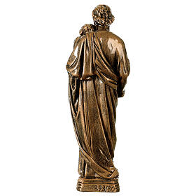 Saint Joseph 30 cm in bronzed marble, outdoor use s5