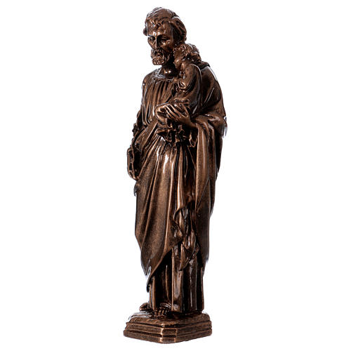 Saint Joseph 30 cm in bronzed marble, outdoor use 3
