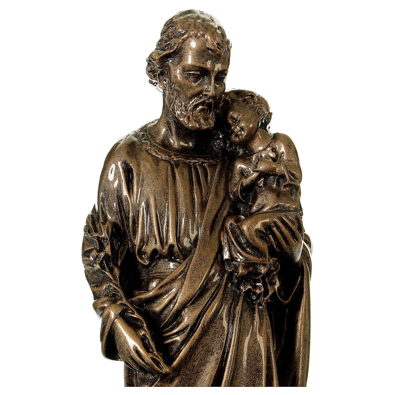 San Giuseppe 30 cm marmo bronzato PER ESTERNO 4