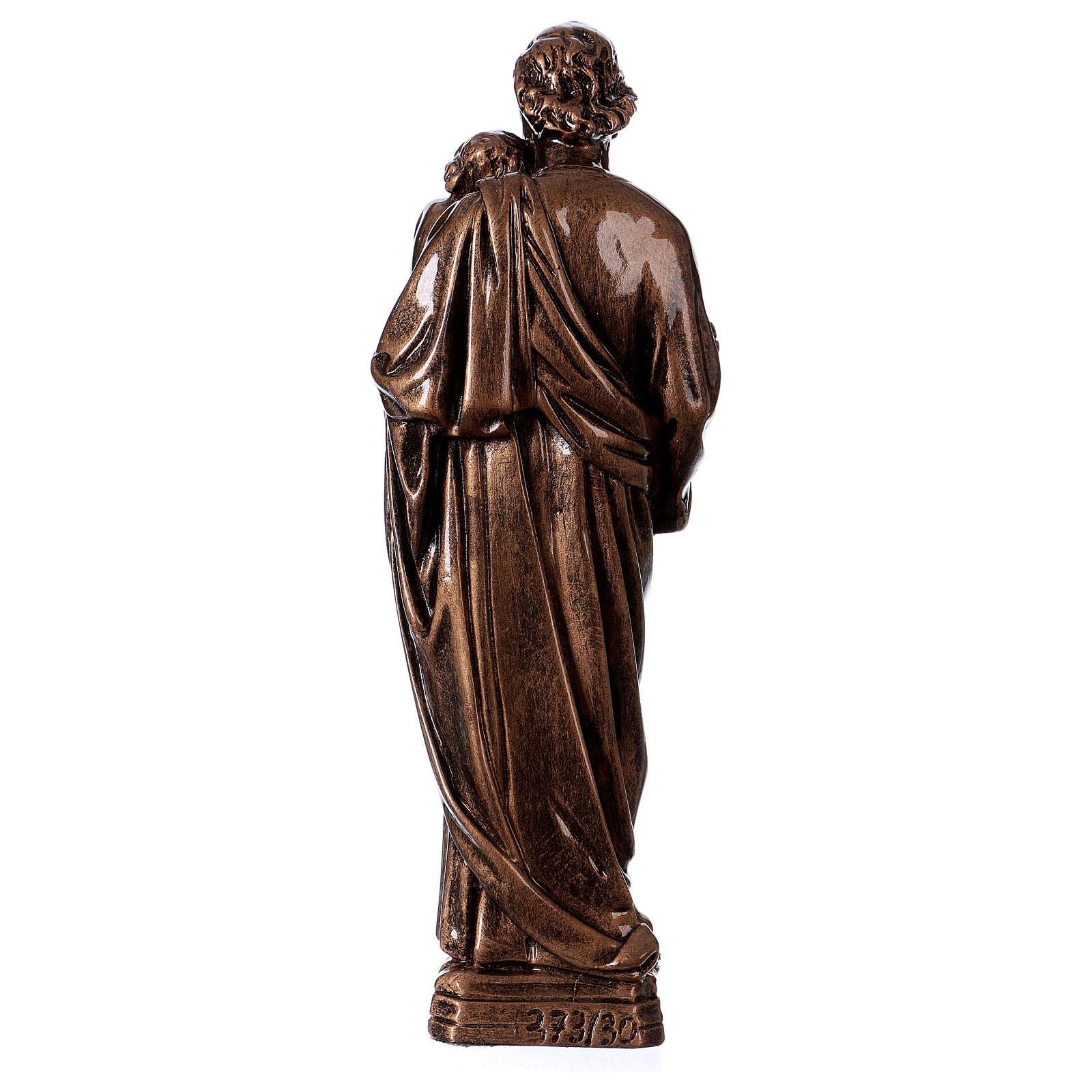 Saint Joseph 30 cm in bronzed marble FOR OUTDOORS 4