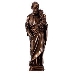 Saint Joseph 30 cm in bronzed marble FOR OUTDOORS s1