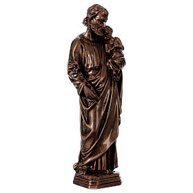 Saint Joseph 30 cm in bronzed marble FOR OUTDOORS s4
