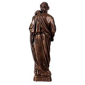 Saint Joseph 30 cm in bronzed marble FOR OUTDOORS s5