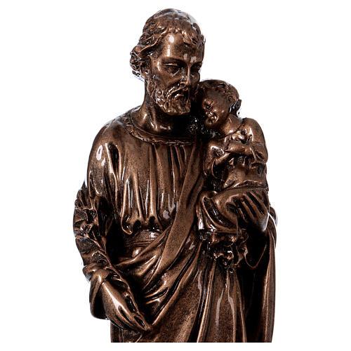 Saint Joseph 30 cm in bronzed marble FOR OUTDOORS 2