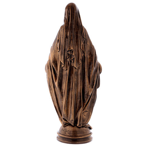 Miraculous Medal statue in bronzed marble powder composite 60 cm, OUTDOOR 6