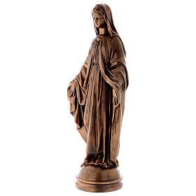 Madonna Miracolosa 60 cm bronzata polvere marmo Carrara PER ESTERNO s3