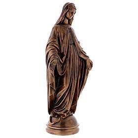 Madonna Miracolosa 60 cm bronzata polvere marmo Carrara PER ESTERNO s4