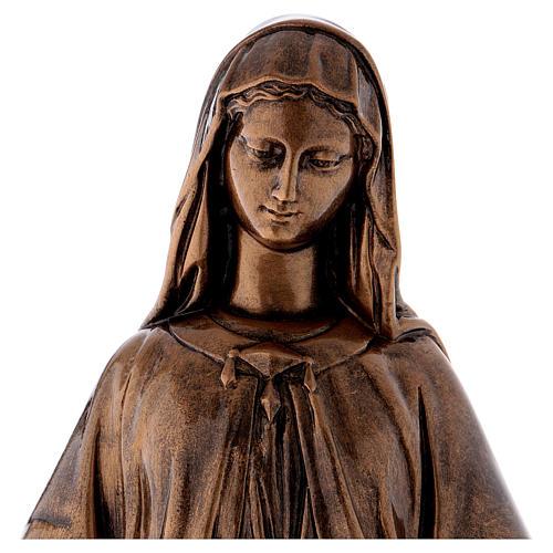 Madonna Miracolosa 60 cm bronzata polvere marmo Carrara PER ESTERNO 2