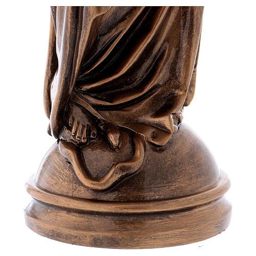 Madonna Miracolosa 60 cm bronzata polvere marmo Carrara PER ESTERNO 5