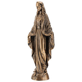 Miraculous Medal statue in bronzed marble powder composite 45 cm, OUTDOOR s3