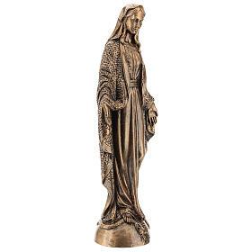Virgen Milagrosa 45 cm bronceada polvo de mármol PARA EXTERIOR s4