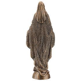 Virgen Milagrosa 45 cm bronceada polvo de mármol PARA EXTERIOR s5