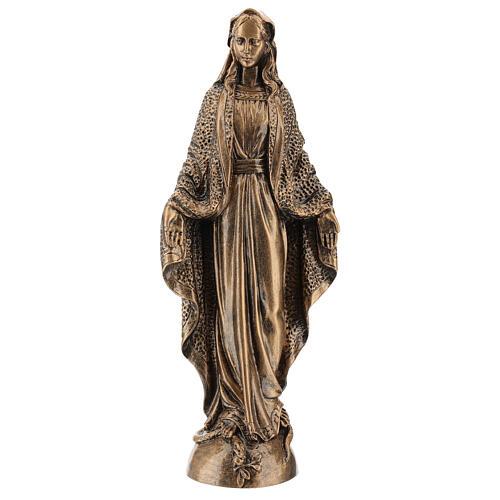 Vierge Miraculeuse 45 cm effet bronze poudre marbre Carrare POUR EXTÉRIEUR 1