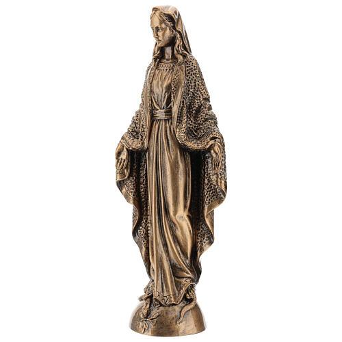 Vierge Miraculeuse 45 cm effet bronze poudre marbre Carrare POUR EXTÉRIEUR 3
