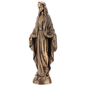 Madonna Miracolosa 45 cm bronzata polvere di marmo PER ESTERNO s3