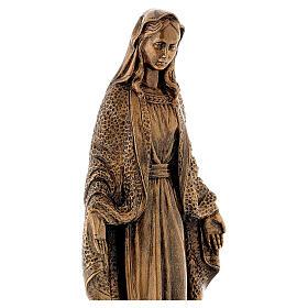 Madonna Miracolosa 45 cm bronzata polvere di marmo PER ESTERNO s4