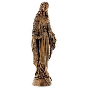 Madonna Miracolosa 45 cm bronzata polvere di marmo PER ESTERNO s5